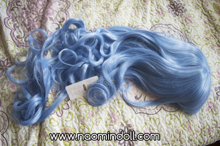 rosewholesale wig review, sky blue wig