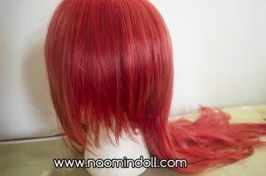 rosewholesale wig review, red wig close up