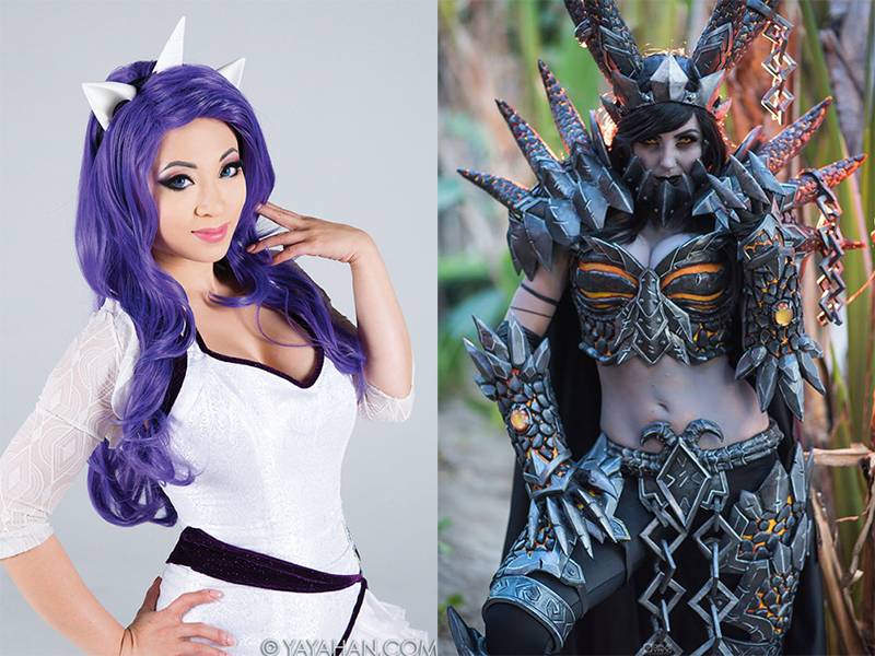 cosplayers yaya han and jessica nigri