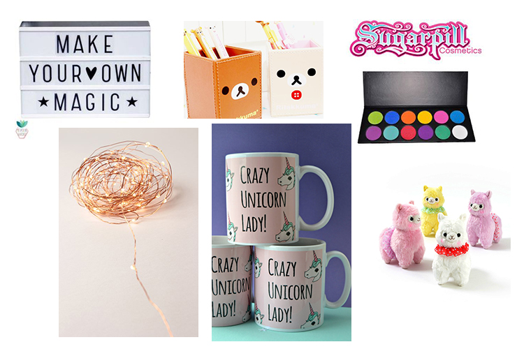 Christmas gift wish list: cute stationery, letter box lamp, unicorn mug, fairy lights, sugarpill cosmetics, alpacasso, fairy lights | Blogmas | Naomi 'n Doll