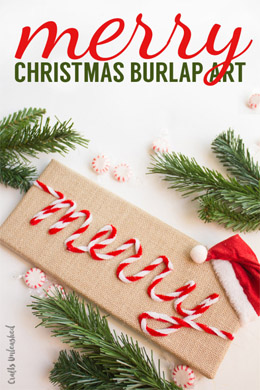 christmas merry and burlap