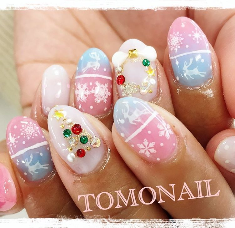 Christmas festive nails by tomonail1533 | Naomi 'N Doll