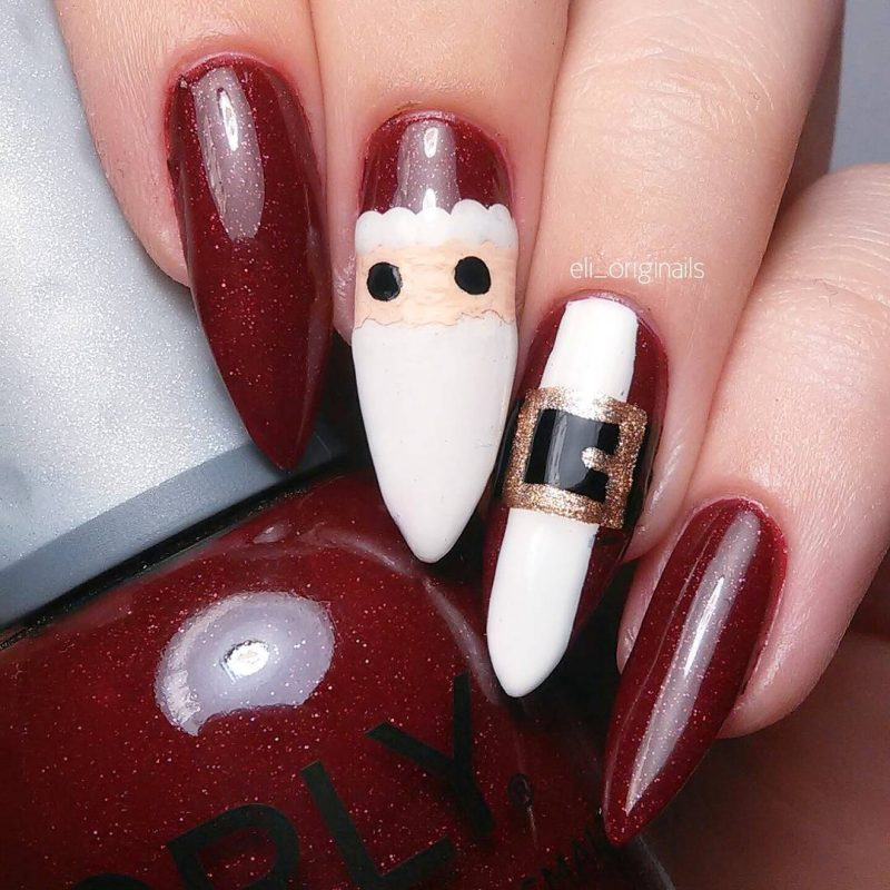 santa claus festive nails naomi n doll